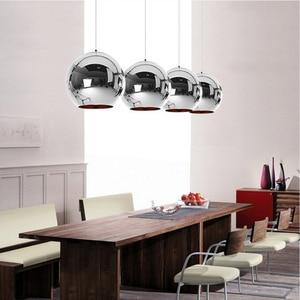Image 3 - Coquimbo Globe pendentif lumières cuivre verre miroir boule suspension lampe cuisine moderne luminaires suspendus lumière