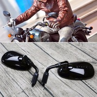 JXLCLYL Black 10mm ABS Motorcycle Rearview Side Mirror fit Harley Scooter GV250