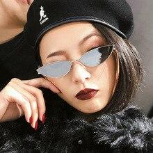 2019 Summer Women Cat Eye Sunglasses Metal Frame Cute Sexy Brand Designer Retro Small Frame Black Red Cateye Sun Glasses UV400 все цены