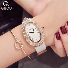 GUOU Top Brand Rhinestone Watch