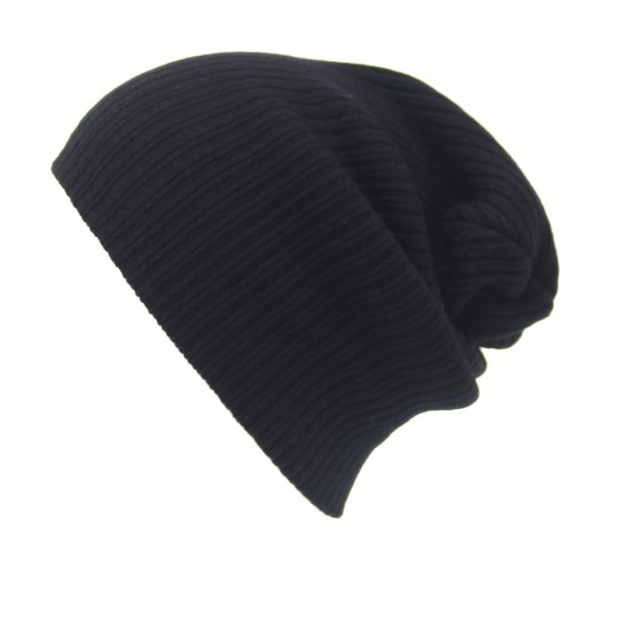 2016 New Fashion Women Men Knitting Beanie Hip-Hop Winter Warm Caps Unisex 6Colors Hats For Women Feminino Bone30