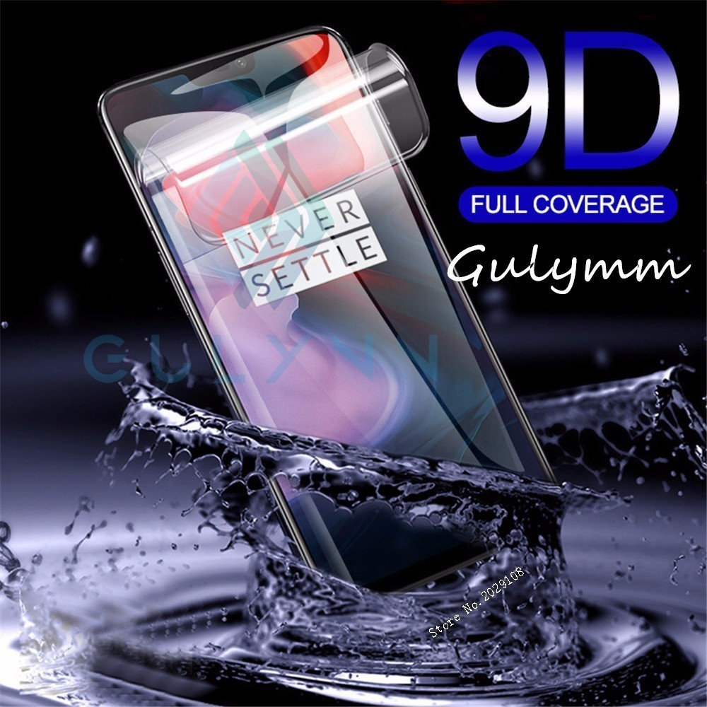9D Screen Protector For ONE PLUS 5 5T Full Hydrogel Film For Oneplus 7 PRO 6 5T Soft Protective Film Not Tempered Glass HD Cover in Phone Screen Protectors from Cellphones Telecommunications