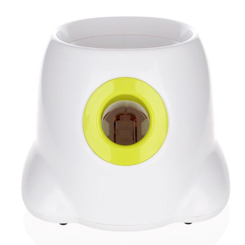 Chien jouets pour animaux de compagnie lanceur de Tennis Machine de lancement automatique balle pour animaux de compagnie jeter dispositif Section émission avec 3 balles nous Plug - 2