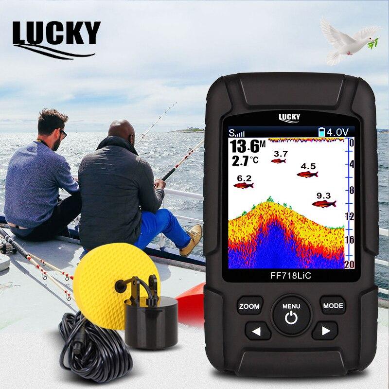 Sonar sans fil chanceux de trouveur de poisson pour la pêche sondeur d'écho Sonar capteur de pêche sur glace couleur 2.8