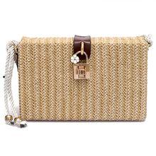 New Hot Fashion Beach Bags Summer Beach Handbags Women Messenger Bags Square Straw Hand Woven Ladies Crossbody Bag Shoulder Bags