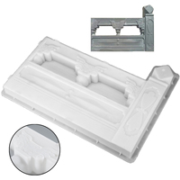1Pc Rectangle Cement Mold DIY Concrete Fence Mold Garden Flower Pool Plastic Mold Brick Courtyard
