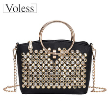 Women Handbags High Quality Fashion Rivet Pearl Design Ladies Messenger Bags PU Leather Shoulder Bags Women Crossbody Bag Girls стоимость
