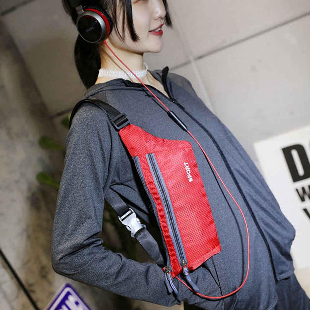 2019 moda hombres mujeres cintura riñonera Bolsa De Teléfono bolsa viaje deporte cadera monedero cartera cintura paquetes Zip bolsas
