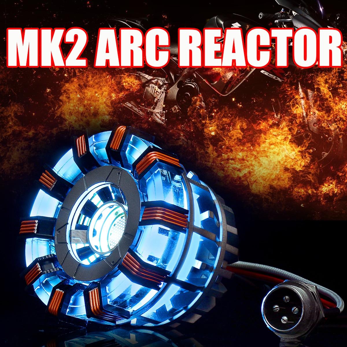 MK2 acrylique Tony 1:1 Arc pour réacteur bricolage modèle Kit LED lampe de poitrine USB film accessoires cadeaux Science jouet