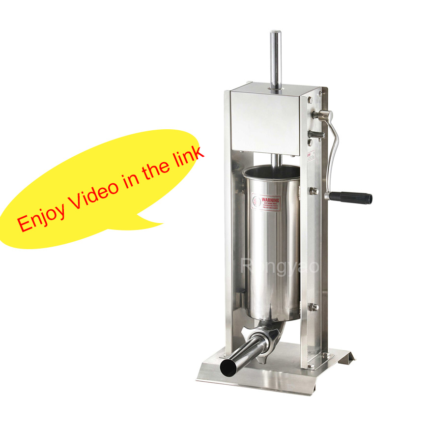 5L Stainless Steel Vertical Sausage Filling Machine Sausage Filler Sausage Stuffer Stuffing Machine