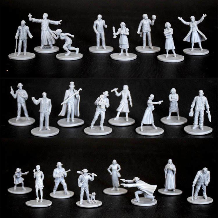 Plastic Model Kits Arkham Horror Character Figure 8 Pieces 1/72 Scale Model Running Group Game Free Shipping