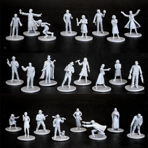 Plastic Model Kits Arkham Horror Character Figure 8 Pieces 1/72 Scale Model Running Group Game Free Shipping(China)