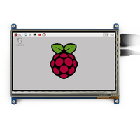 hot 7 inch Capacitive Touch Screen LCD Display IPS 1024x600 HDMI For Raspberry Pi