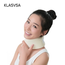 KLASVSA Soft Foam Cervical Traction Neck Support Brace Massa