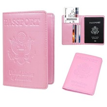 Passport Holder Cover Case RFID Blocking Travel Wallet 736-50 Premium PU Leather Drop Shipping