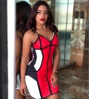 Rayon ubrania nowe, czerwony, bez rękawów, bez ramiączek odzieży na zamek błyskawiczny klub wysokiej jakości hurtownie kobiety Celebrity Party Mini bandaża sukni