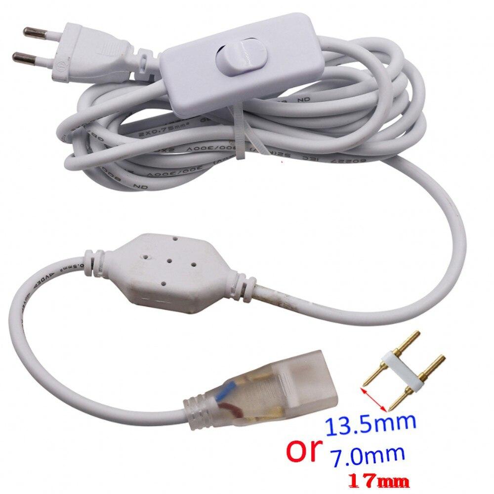 Led-beleuchtung 80 Cm Kabel Power Eu Stecker Uk/us Adapter Mit Auf-off Schalter Für 220 V 110 V 5050 5730 Led Streifen Flexible Licht 6mm 12mm 15mm Pcb Einfach Zu Schmieren