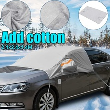 240cmx200cmx147cm Universal Car Front Window Windscreen Covers Sunshade Cover Snow UV Ice Shield for Windshield Winter Summer cheap Car Covers 2 4m car windshield cover PEVA cotton 1 47m