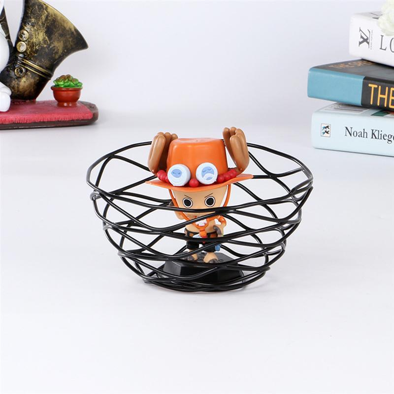 1 PC European Style Basket Durable Iron Fresh Fruit Container Basket Hollow Out Vegetable Holder Kitchen Accessories Black in Storage Holders Racks from Home Garden