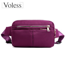 New Casual Sport Style Oxford Women Waist Bag 2019 Chest Bags Multi-functional Small Bag High Quality Mobile Phone Female Bag