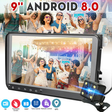 9 pollici 2 DIN Android 8.0 Car Multimedia Lettore HD FM MP4 MP5 Radio Stereo di GPS di Navigazione WIFI bluetooth Auto video Player Per VW