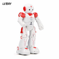 LEORY LED Eyes RC Robot Smart Voice Programming DIY Body Gesture Model Humanoid Robot Toy For Child Gift
