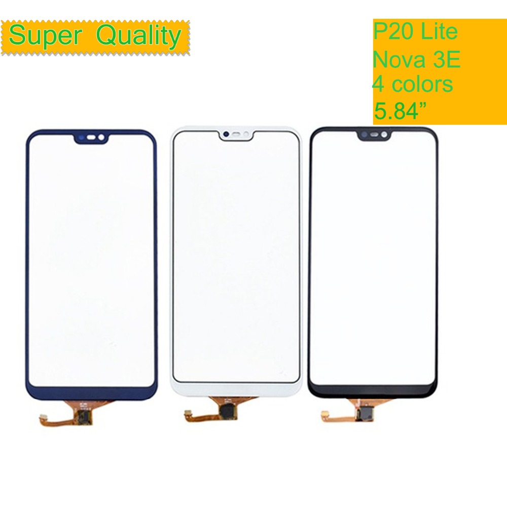 10Pcs/lot P20Lite For Huawei P20 Lite Nova 3E Touch Screen Touch Panel Sensor Digitizer Front Glass Outer Touchscreen NO LCD