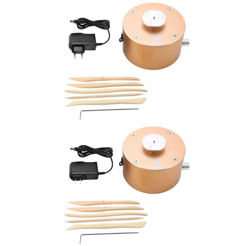 12V Mini Clay Making Pottery Machine Ceramic DIY Craft 100 240V Flexible Foot Pedal For Ceramic