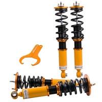Full Adjustable Coilover Suspension for Nissan Skyline R32 BNR32 2.0L GTS T RB20DET 89 94 Adj. Damper Front Rear Spring