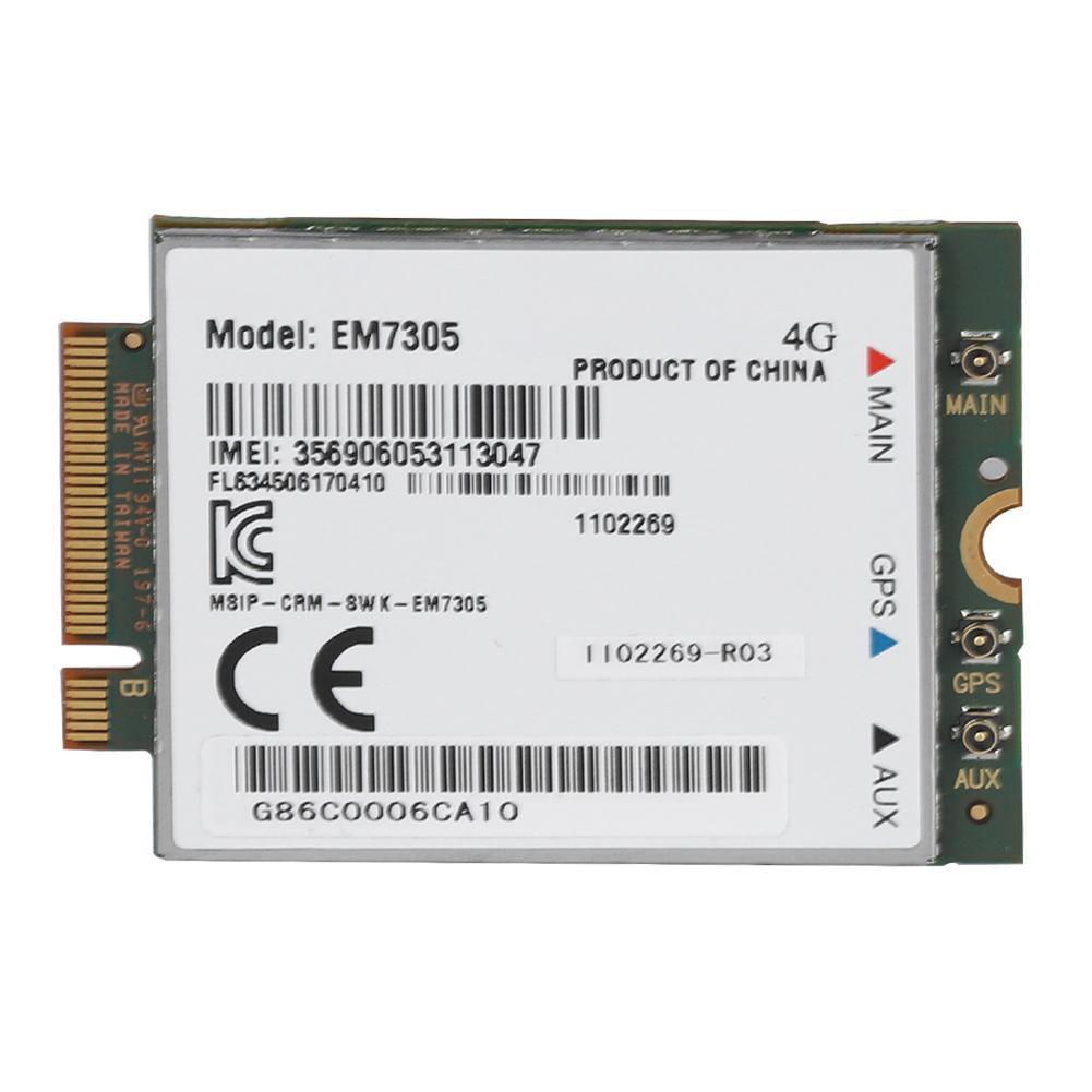 Sans fil EM7305 LTE NGFF Interface carte réseau 4G carte wifi Soutien GPS 100 Mbps Vitesse de Téléchargement