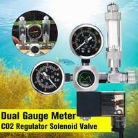 Waterproof Aquarium CO2 Regulator G5/8 Magnetic Solenoid Check Valve Aquarium Bubble Counter Fish Tank Tool CO2 Control 220V