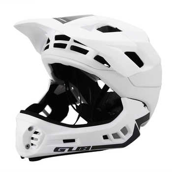 GUB Cycling Helmet Detachable Full Face Helmet for Child Skating Skiing Reflective Safety Helmet with Visor and Warning Light