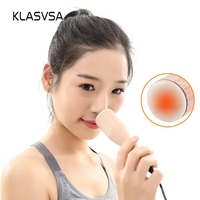KLASVSA Electric Heating Moxa Jade Nasolabial Folds Wrinkles Remove Eye Facial Massager Neck Back Body Warm Therapy Skin Care