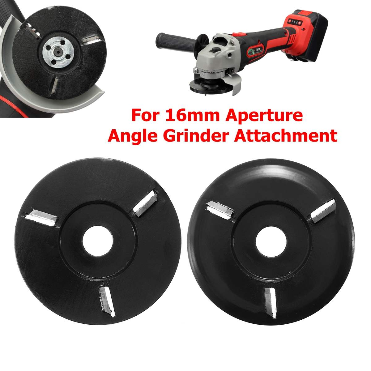 US $16 66 46% OFF|Power Wood Carving Disc Angle Grinder Woodworking Turbo  Plane For 16mm Aperture Angle Grinder Attachment Milling Cutter-in Grinders