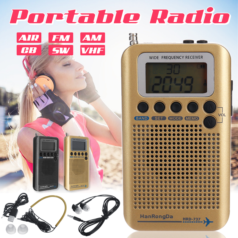 Plein AIR numérique portatif de bandes/FM/AM/CB/SW/VHF Radio LCD stéréo Mini récepteur multifonction professionnel tout-terrain amateurs