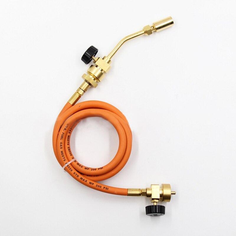 Mapp torche de soudage sans oxygène outil de soudage torche de pulvérisation en cuivre avec tuyau