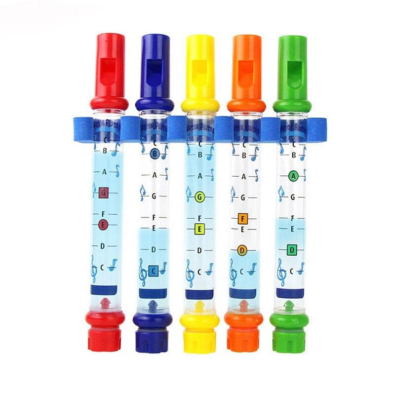 1 Pcs Wasser Flöte Spielzeug Kinder Kinder Bunte Wasser Flöten Badewanne Tunes Spielzeug Spaß Musik Klingt Baby Dusche Bad Spielzeug