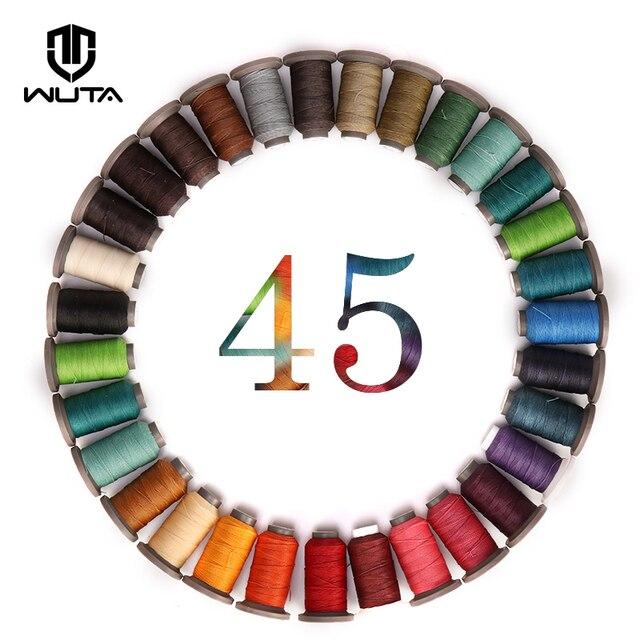WUTA fil ciré rond 117 mètres | Fil de couture manuel, 0.45mm, pour le travail du cuir, WUTA, 28 couleurs disponibles, bricolage