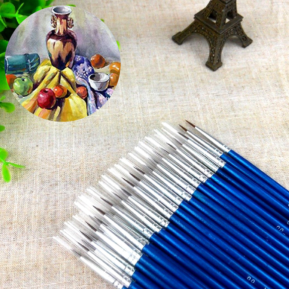 NEW HOT SALES 10Pcs/Set Fine Hand-painted Thin Hook Line Pen Drawing Art Pens Paint Brush(China)