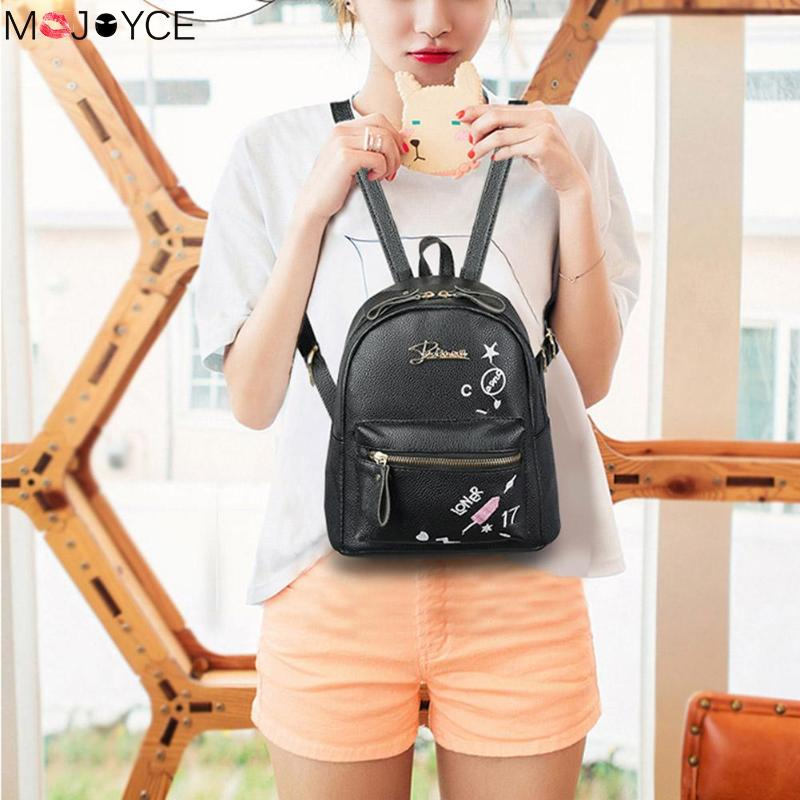 Fashion Letter Print Backpack Women Preppy Style PU Leather High-Quality Travel School Shoulder Backpack mochila femininaFashion Letter Print Backpack Women Preppy Style PU Leather High-Quality Travel School Shoulder Backpack mochila feminina