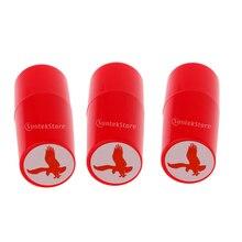 3pcs  ABS Plastic Colorfast Quick-dry Seal Eagle Golf Ball Stamp Stamper Marker Impression