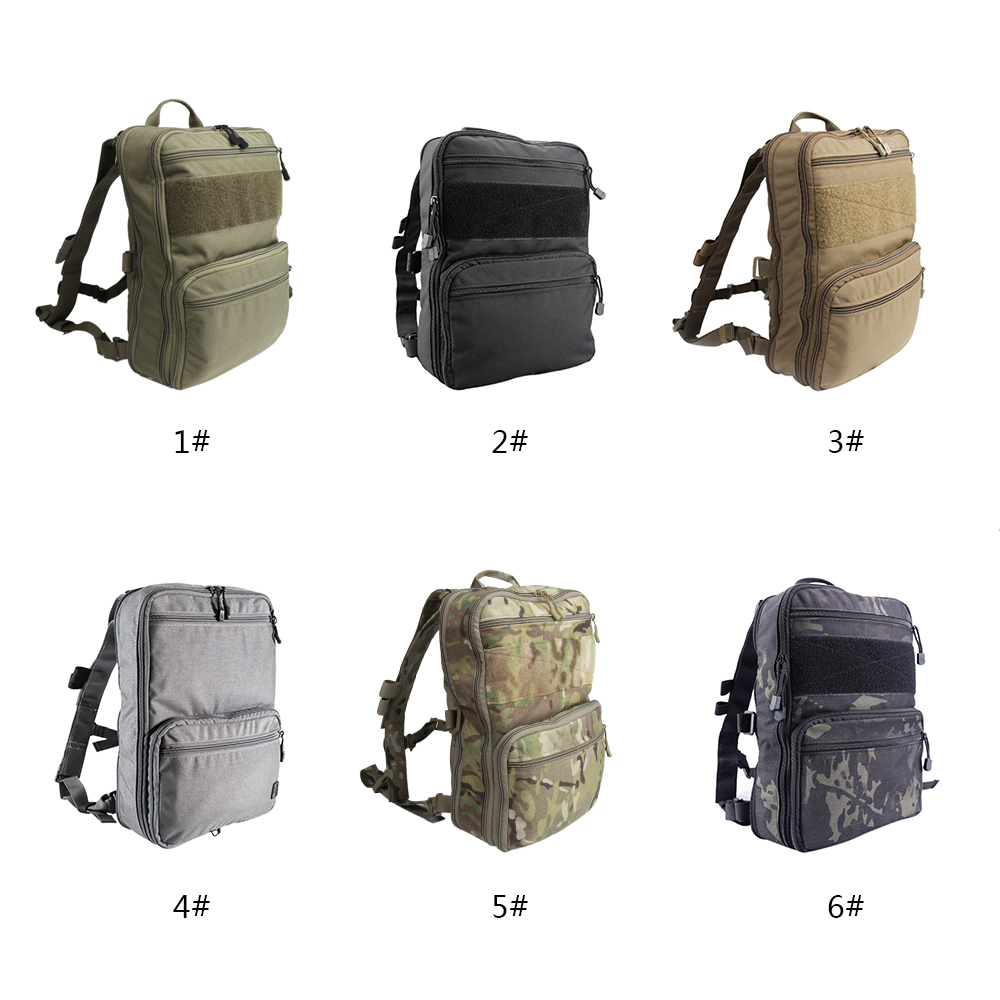 D3 Flatpack Tactic Backpack Hydration Carry Multipurpose Gear Pouch Outdoor Hunting Bag Traveling Hiking Bags Water
