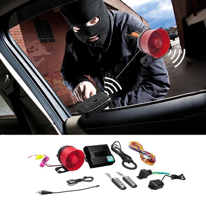 Système d'alarme de voiture 2-en-1 système de sécurité de voiture système de verrouillage du moteur entrée sans clé voitures démarrage à distance du moteur arrêt automobile