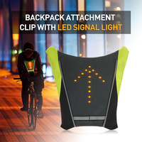 Lixada USB Cycling Bicycle Reflective Vest Bike Backpack LED Wireless Safety Turnning Signal Light Vest For Riding Night Guide