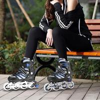 Roller Cool etc Skating Breathable of PU Skates Adjustable Pair Outdoor rink Skates Adult 270mm Size Inline Striped 255