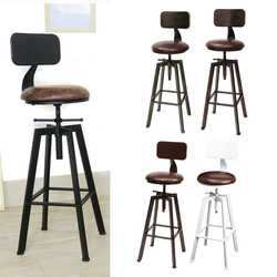4 Цвета Винтаж Ретро Ремесло PU кожаный барный стул, табурет 360 градусов Поворот счетчик Лифт высокий стул украшение домашнего бара Новый