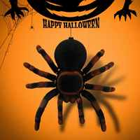 Remote Control 11 inch 4 CH Realistic RC Spiders Tarantula Scary Toys Prank Holiday Gift Model RC Animals