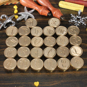 Seal-Stamp Post Alphabet Copper-Head Random-Pattern 26-Letter Initial Classic A-Z 1pcs