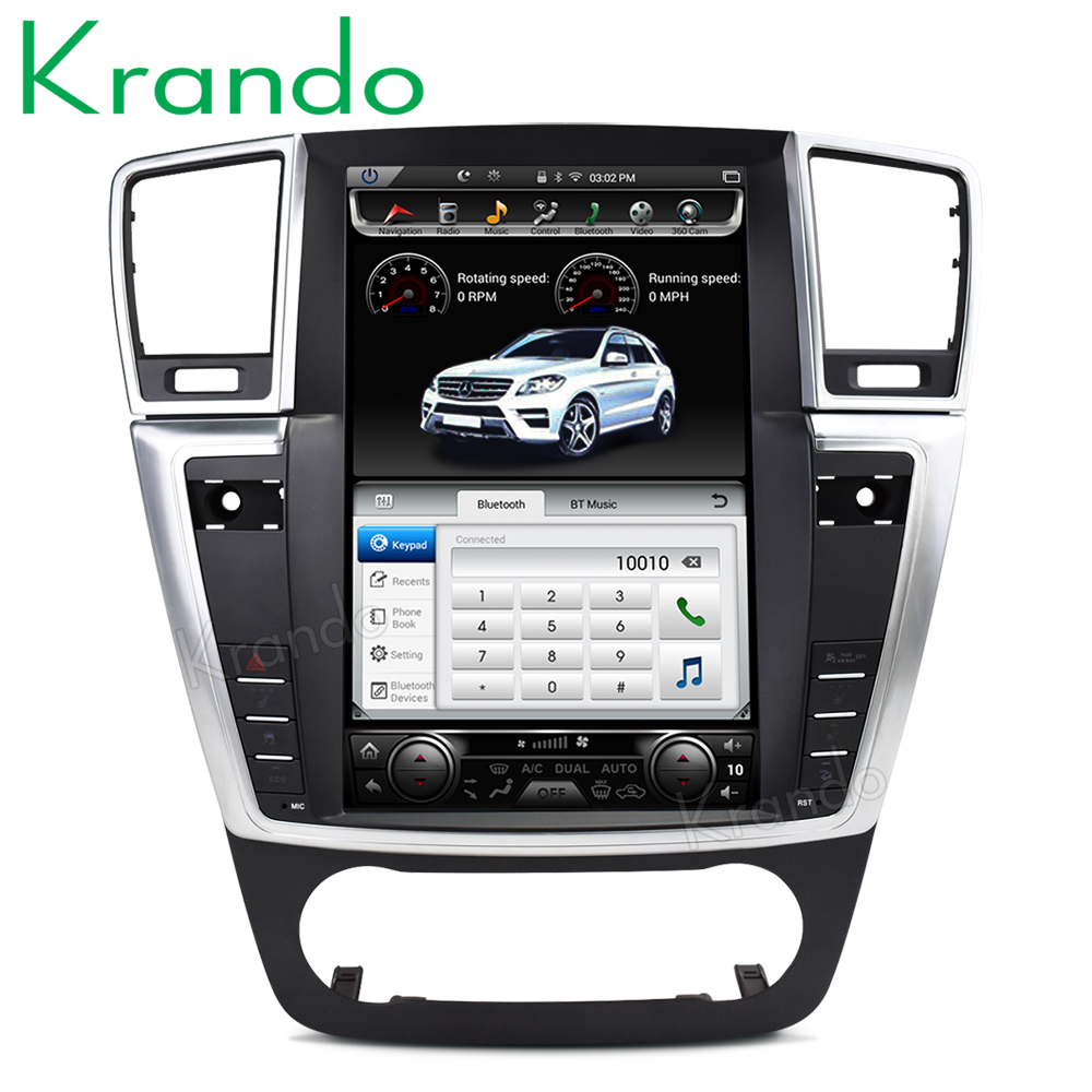 Krando Android 6 0 12 1 Tesla Vertical screen car dvd multimedia player for mercedes for