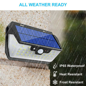 Image 4 - 800LM 55LED Solar Light PIR Motion Sensor Outdoor Garden Wall Lamp USB Rechargeable Remote Control LED Solar Light